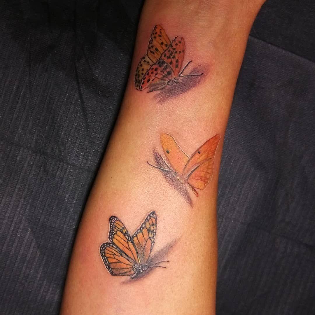 Butterfly Tattoo on Forearm in 2020 Forearm tattoos