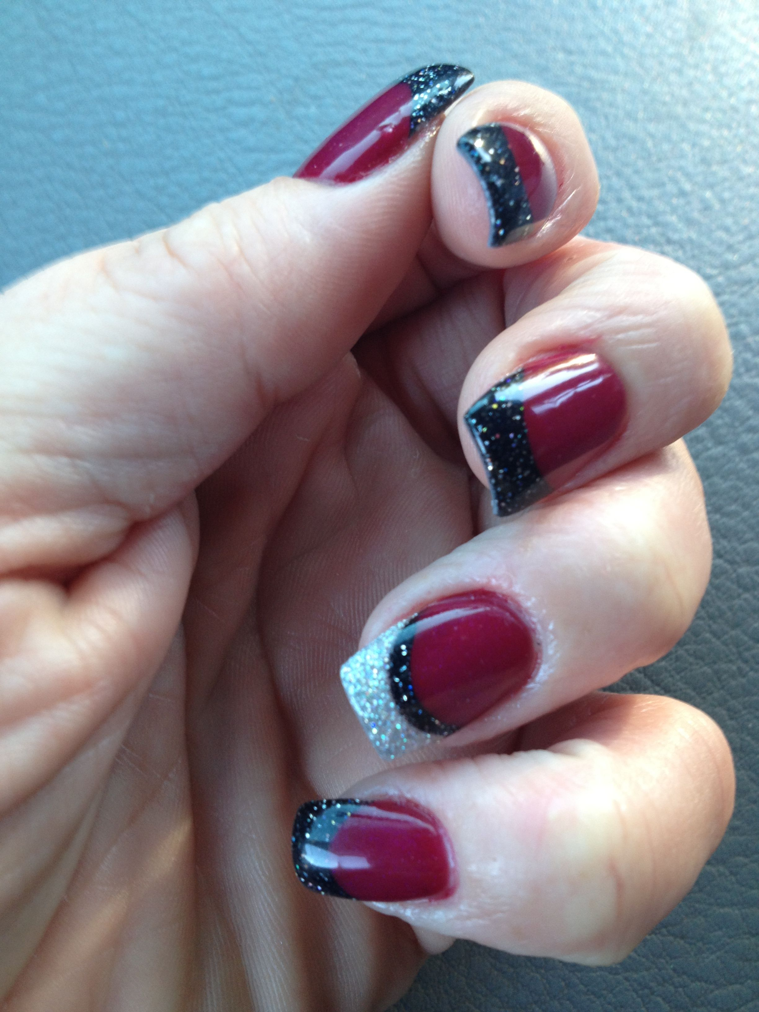 Beautiful Nails: Red And Black Acrylic Nails