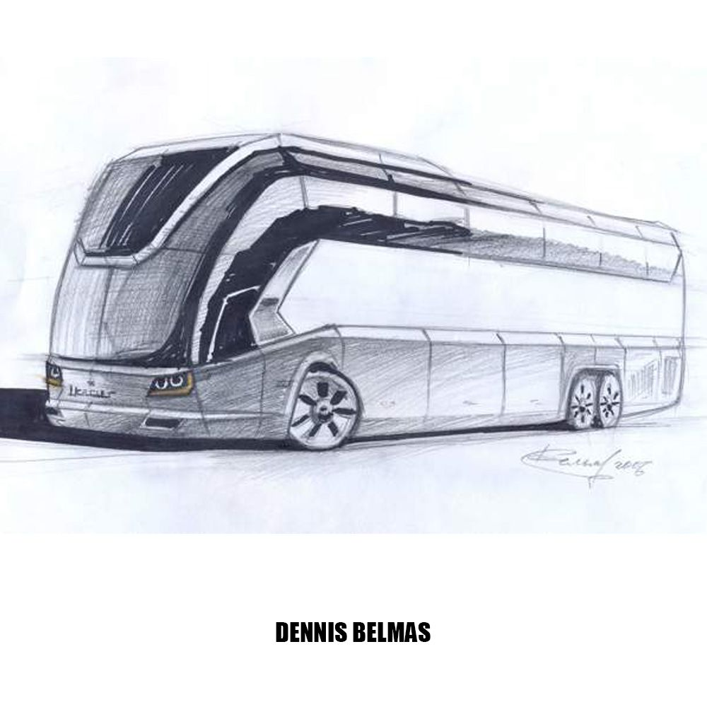my design project of coach ikarus 2006 design sketch coach bus ikarus sketches by. Black Bedroom Furniture Sets. Home Design Ideas