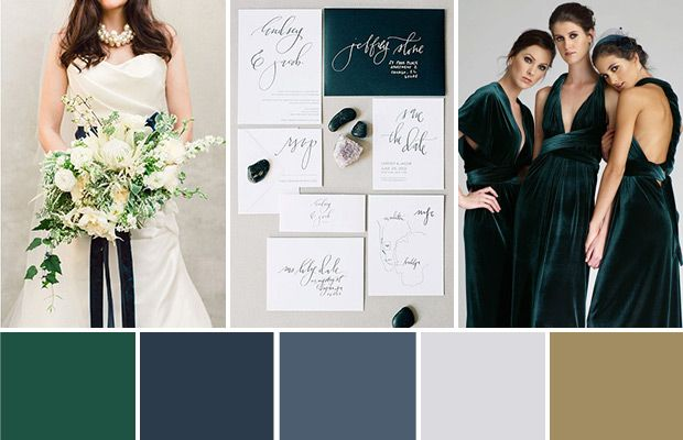 Emerald And Navy A Modern Art Deco Wedding Palette