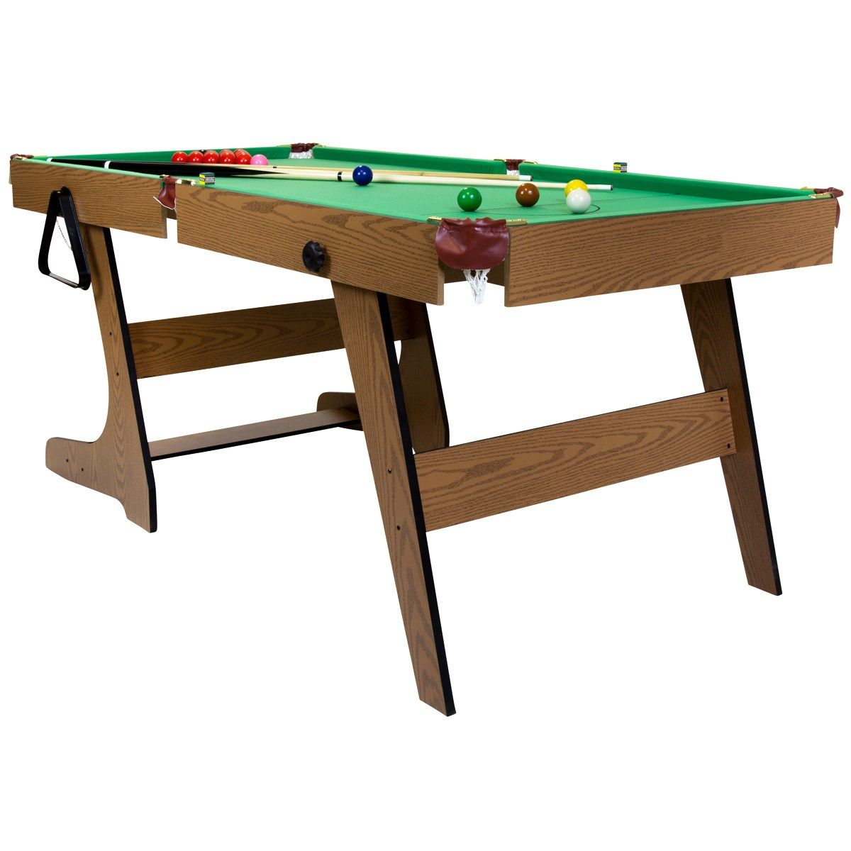 Deluxe Folding 6ft Snooker and Pool Table Pool table