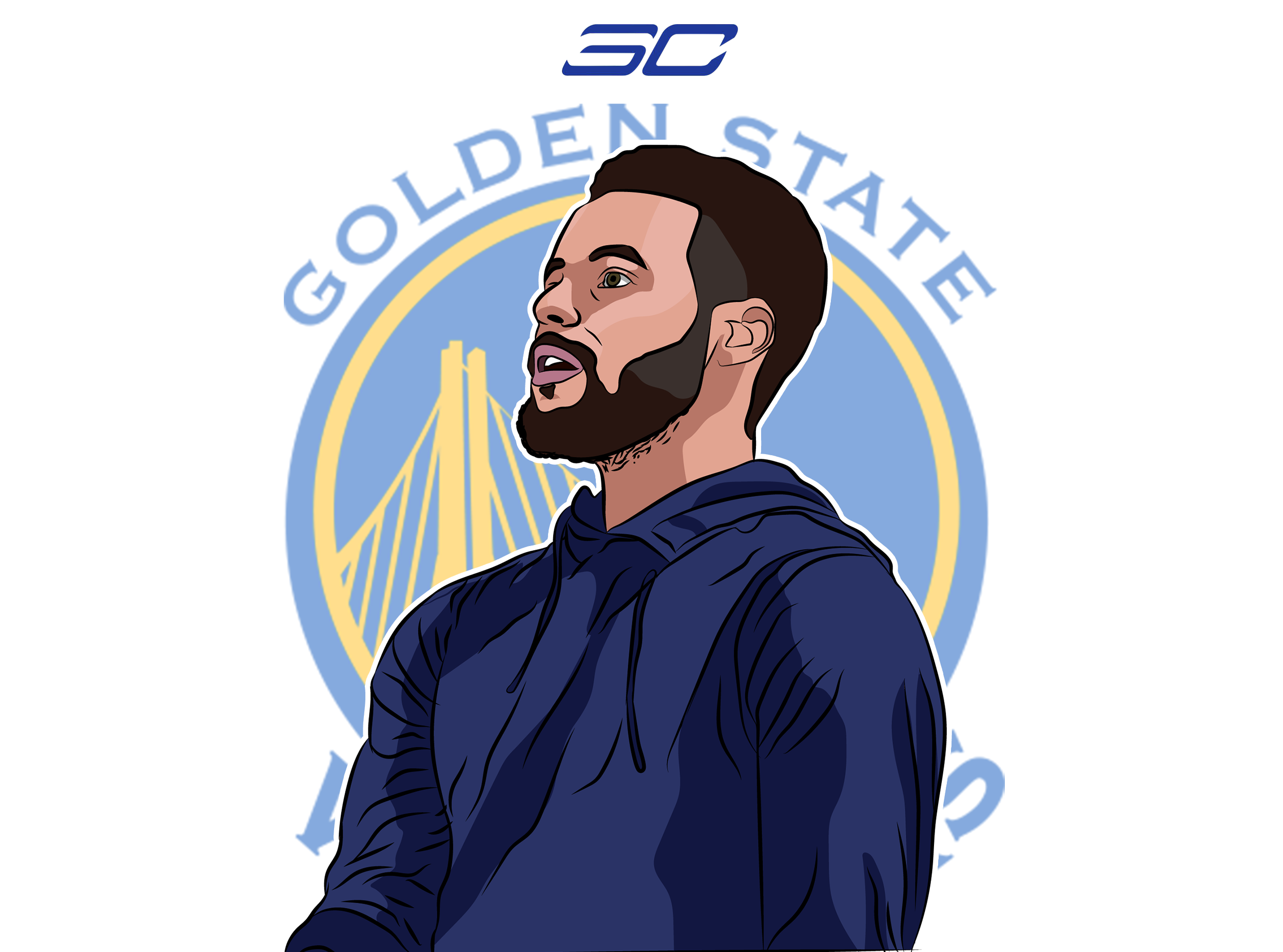 Stephen Curry Illustration by me Stephen curry, Stephen