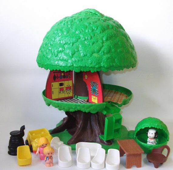 Attractive Kenner Treehouse Part - 7: Vintage Kenner Family Tree House..I Played With This For Hours!