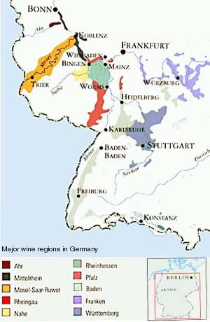 Germany Wine Region Mapjpg Regiones Vitivinicolas - Germany map regions