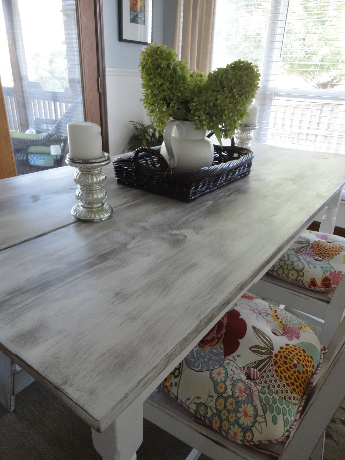 Vanilla Bean Breakfast Table Gets a New 'Do Distressed