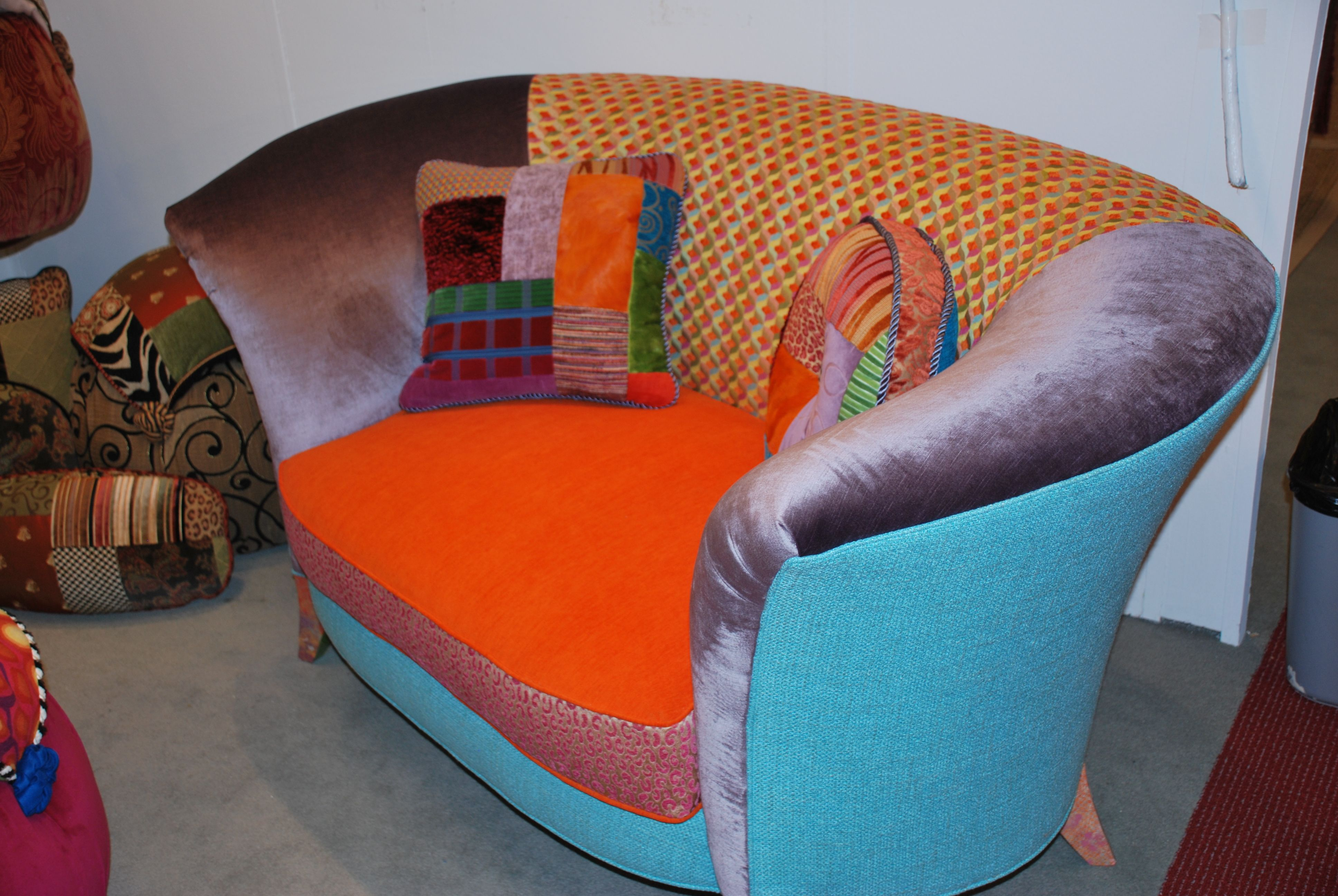 Superb This Bright And Cheery Sofa Is By Salmagundi, Who Used Discarded Fabric