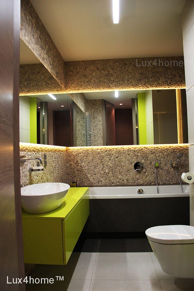 Pebble tile bathroom ideas - Beige Pebble Tiles on walls. Discover ...