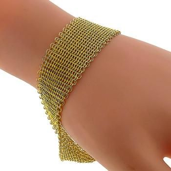 b3e1a137e Elsa Peretti Tiffany & Co Gold Mesh Bracelet | Estate Bracelets ...