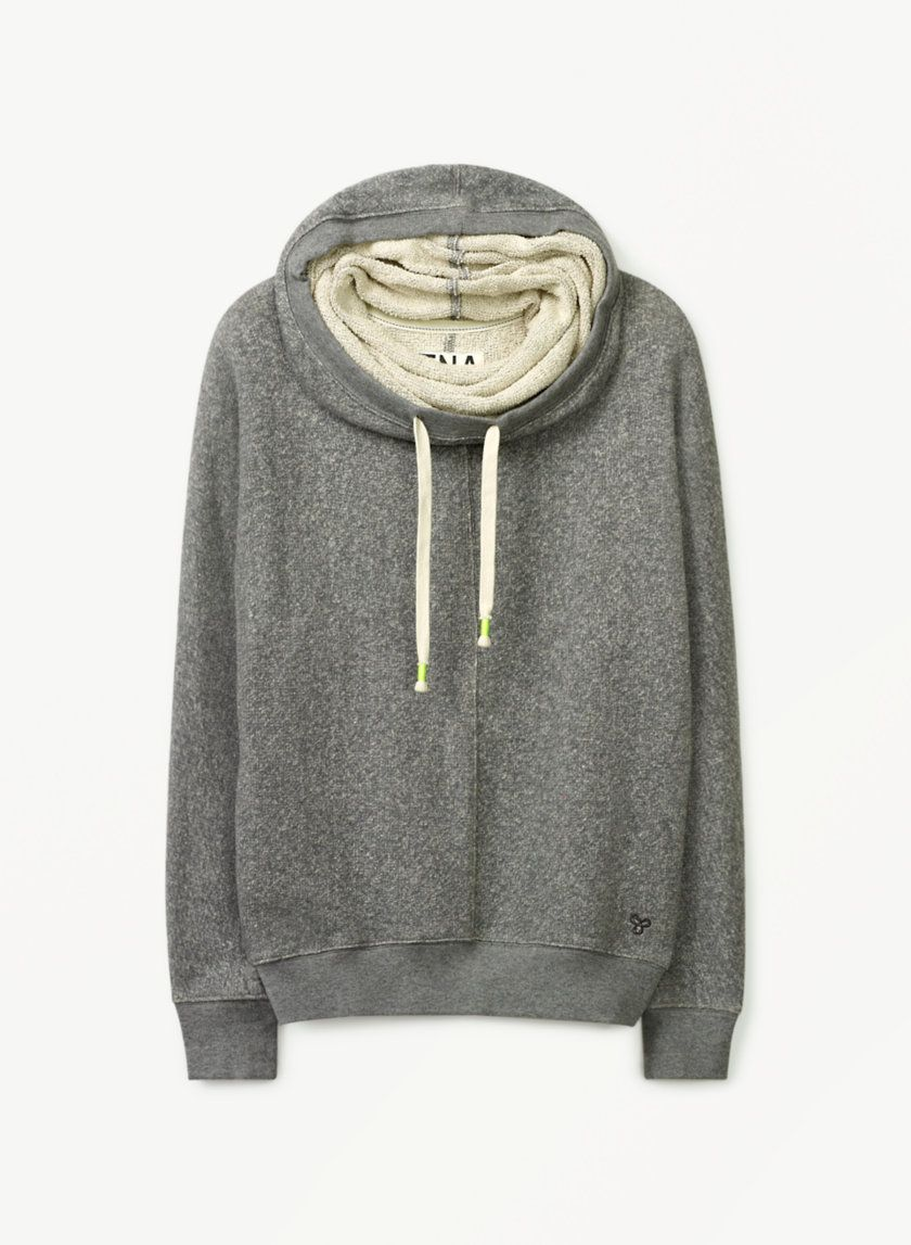 TNA CLIFTON SWEATER - A feminine, drapey spin on the hoodie in ...