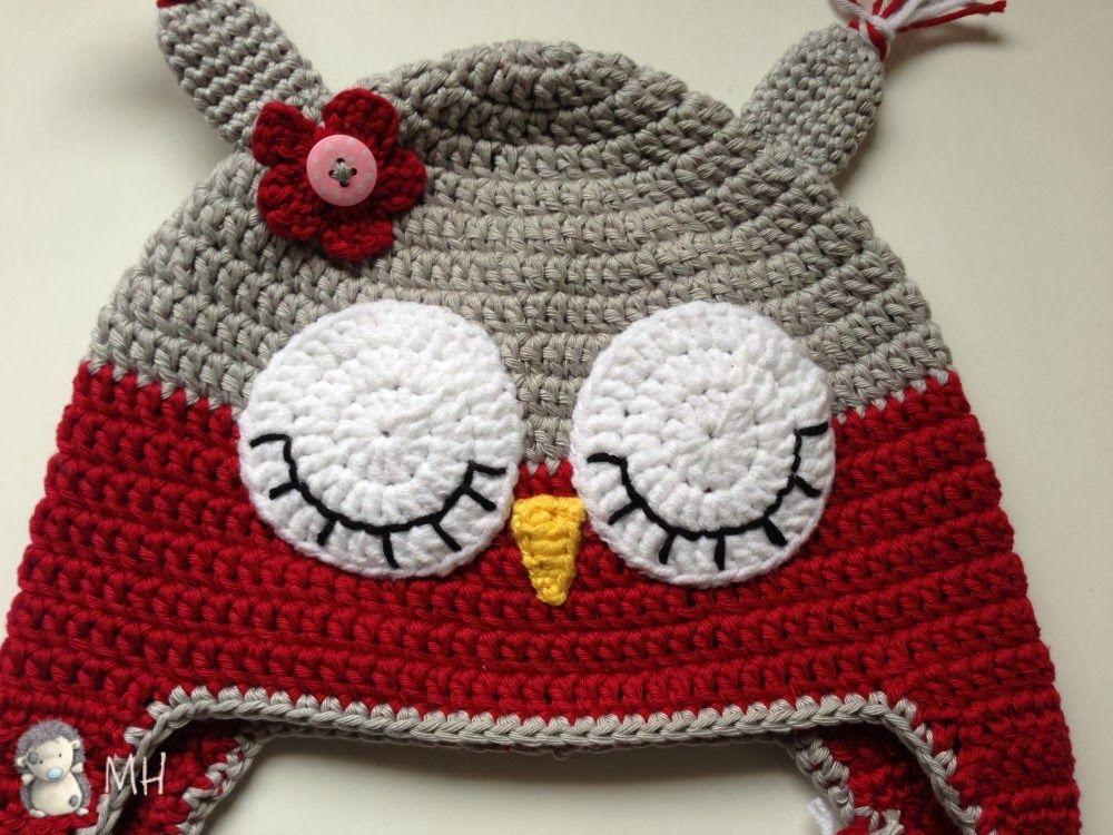 MADRES HIPERACTIVAS: Gorrito Búho a Crochet   вязание для детей ...