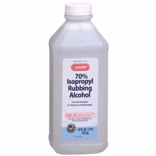 Leader 70 Isopropyl Rubbing Alcohol First Aid Antiseptic 16 Oz