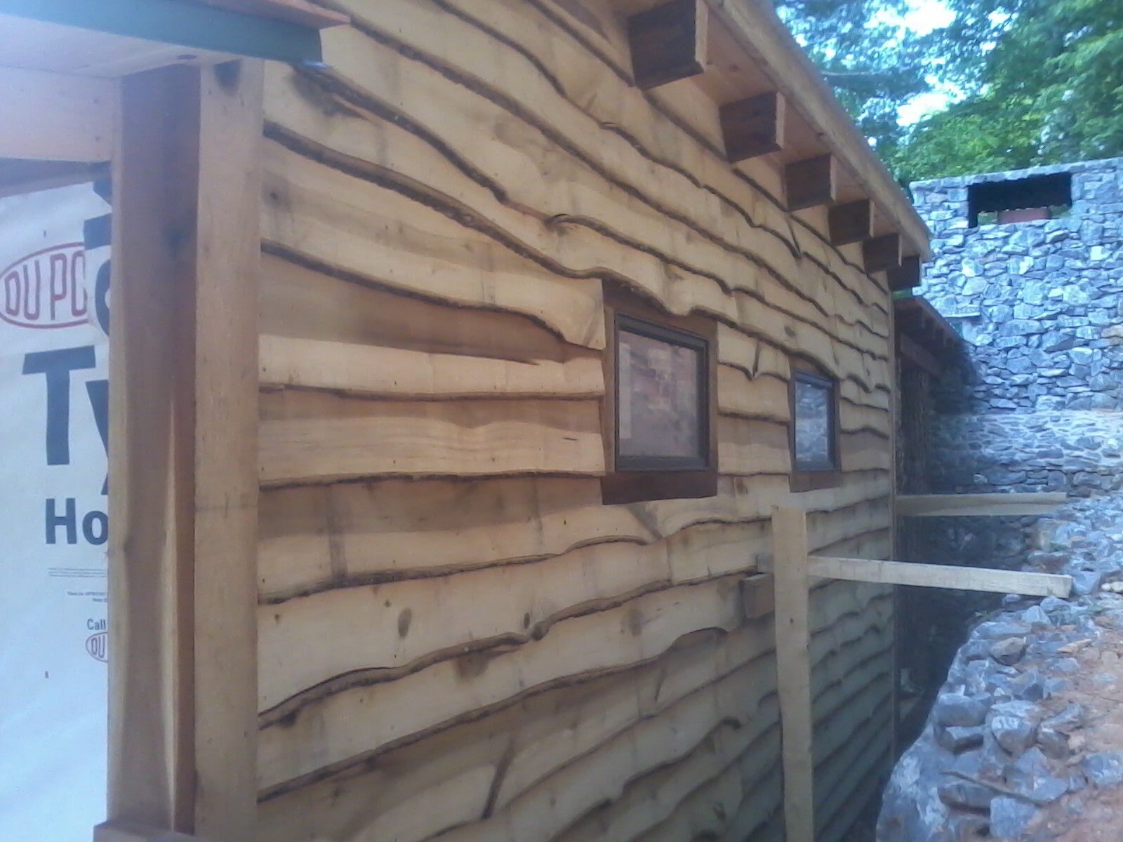 Tiny Cabin Live Edge Poplar Siding Mountain Small