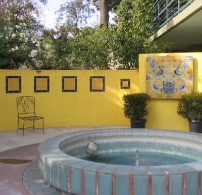 Painting Cinder Block Walls Strikingly Beautiful Example Of A Painted Concrete Block Wall With