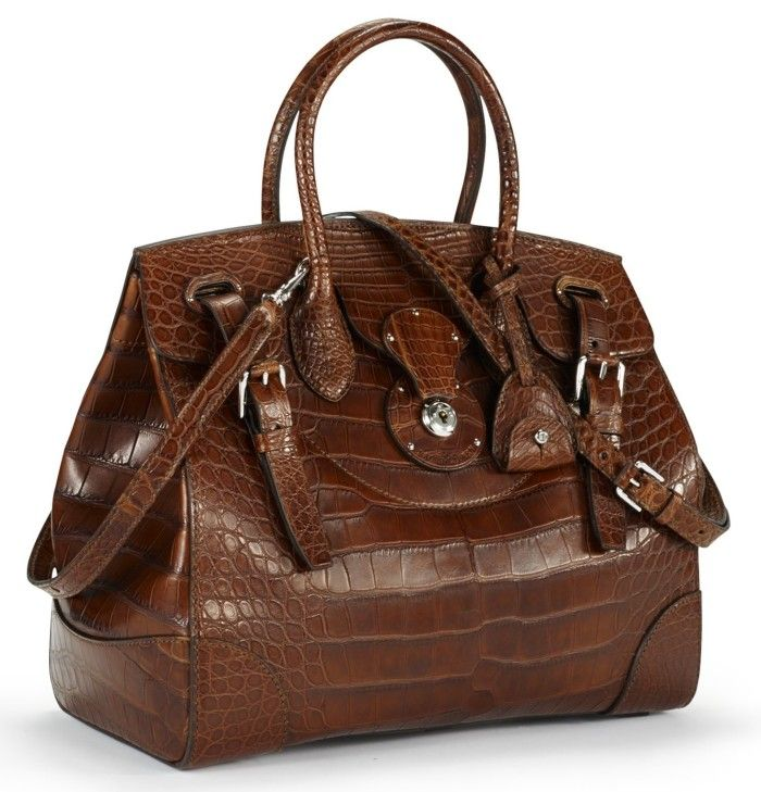68f4a3f2aea8 Gorgeous Ralph Lauren Soft Ricky Bag In Alligator Leather