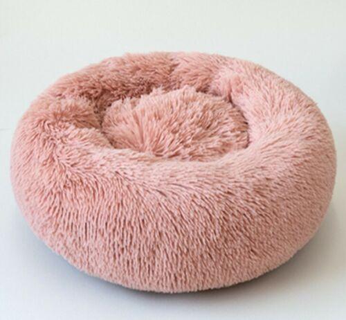 Round Plush Cat Bed Dog House Puppy Cushion Pet Sleep