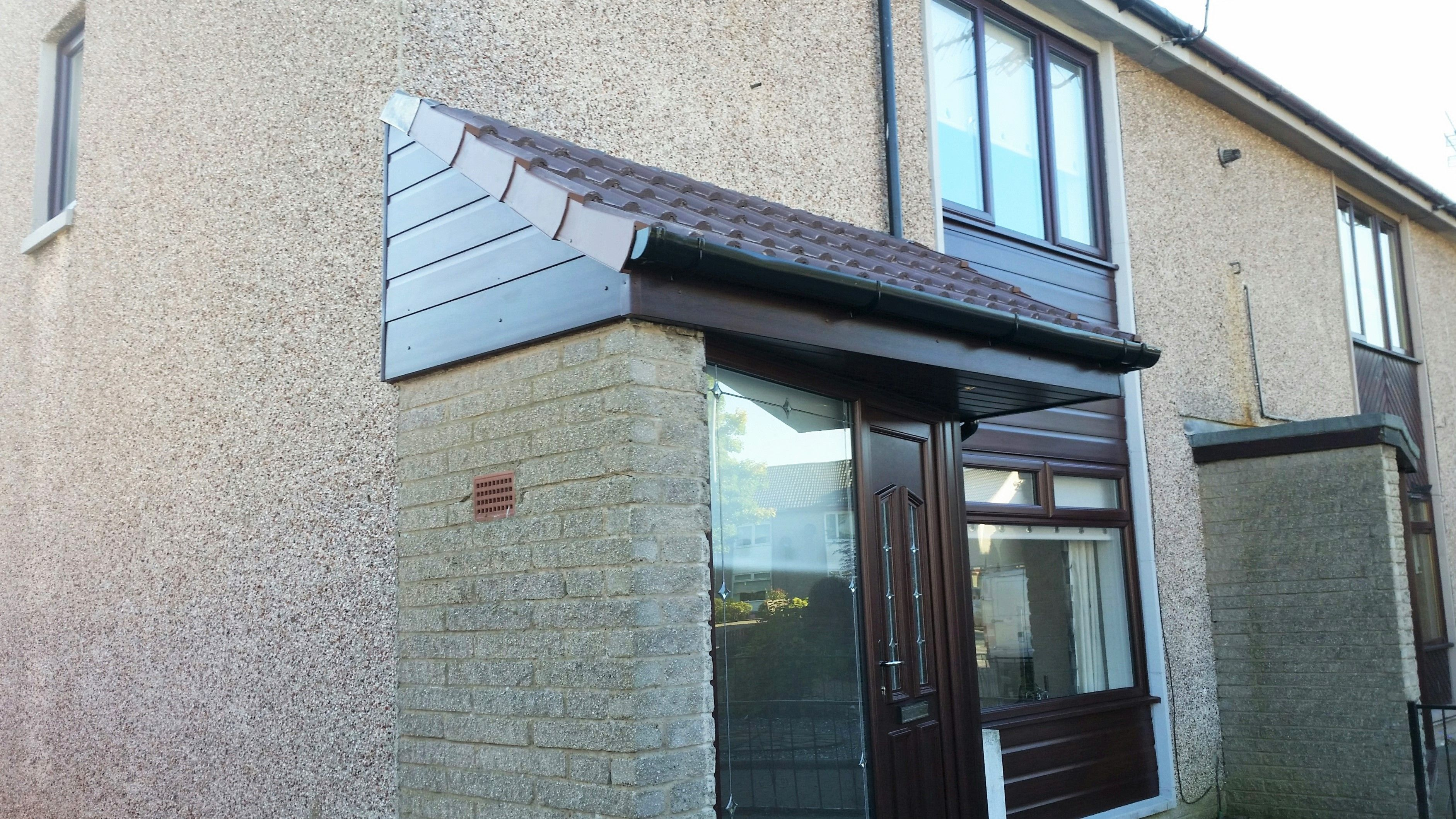 Centiam Home Improvements Windows Doors Raised Roof and Roofline cladding in Rosewood installation Falkirk. & Centiam Home Improvements Windows Doors Raised Roof and Roofline ...