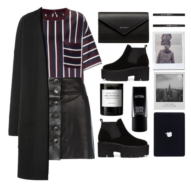 """""""Bring it to the city"""" by shotstyle ❤ liked on Polyvore featuring Chanel, WithChic, Meggie, Byredo, Balenciaga and Maybelline"""