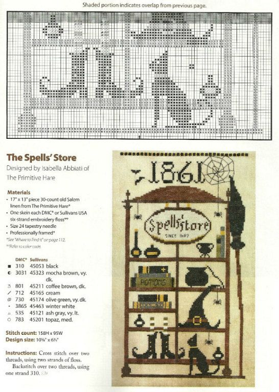 spell store.  1 of 2 parts  HALLOWEEN PUNTO EN CRUZ (pág. 2)   Aprender…
