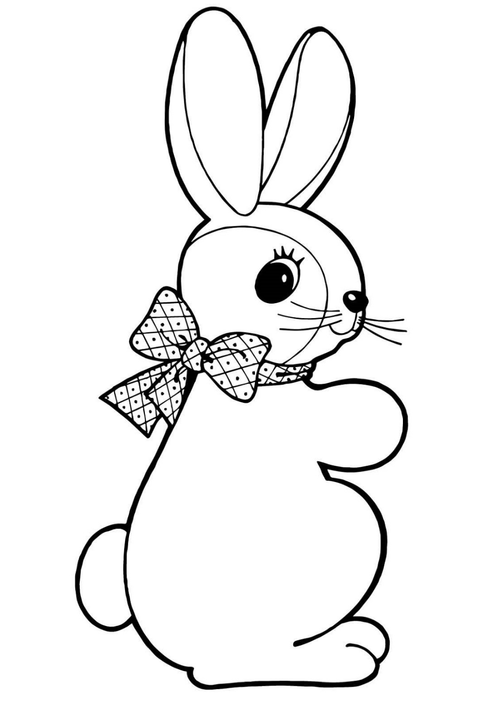 Bunny Coloring Pages | K5 Worksheets | Bunny coloring ...