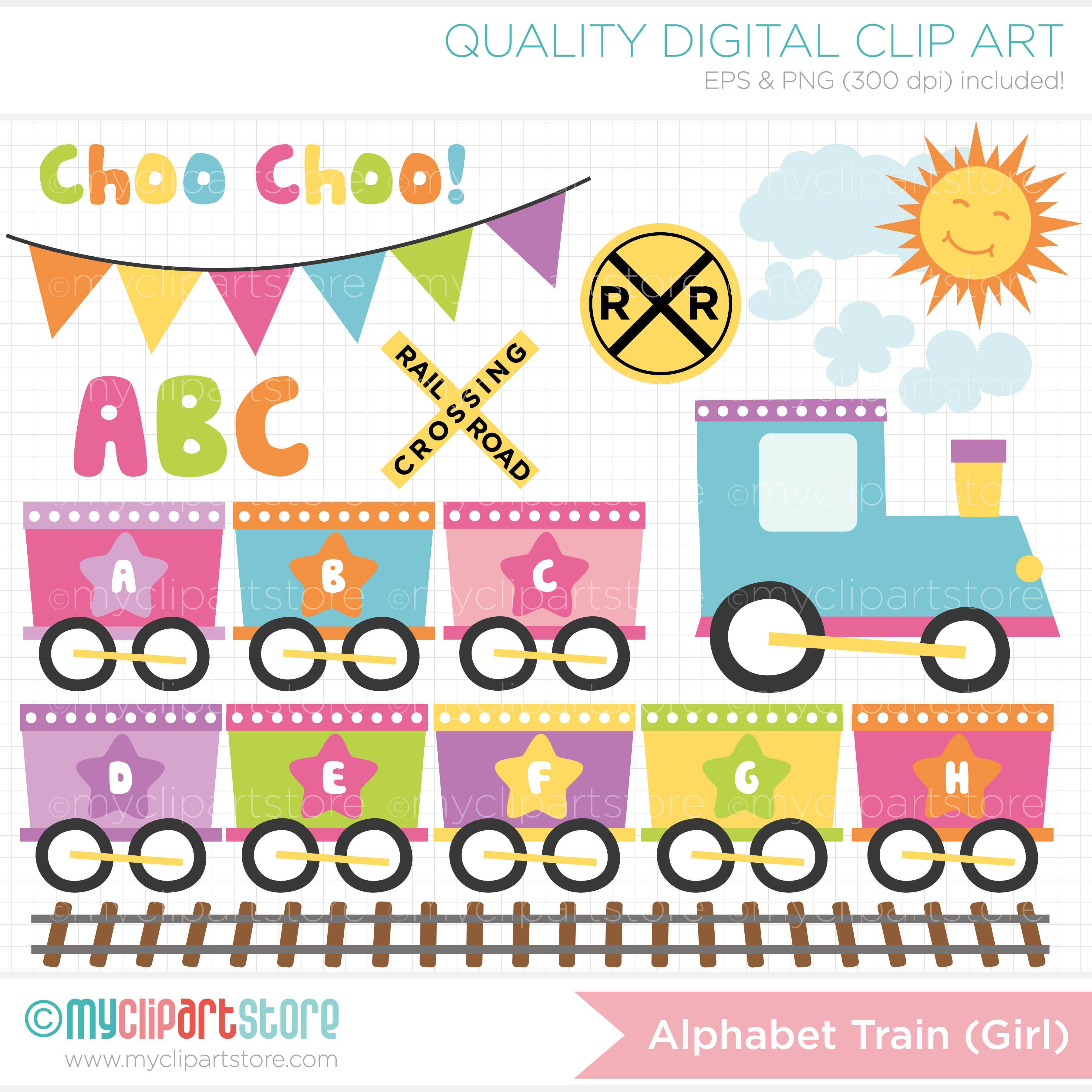 Alphabet train coloring - Baby Girl Choo Choo Train Abc Alphabet Train Clipart
