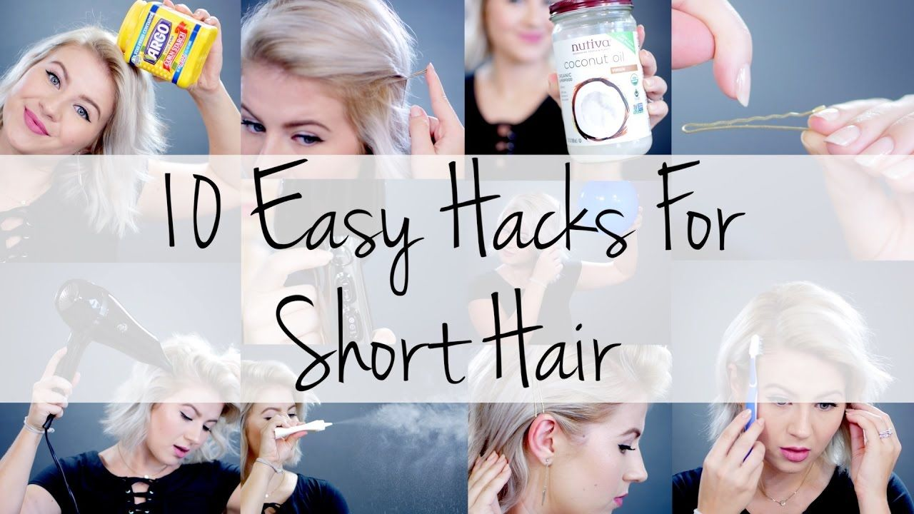 10 Easy Hacks For Short Hair Milabu Short Hair Styles Short Hair Hacks Short Hair Updo