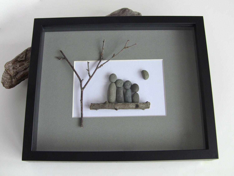 custom family picture beach stone pebble art by pebblecreationz