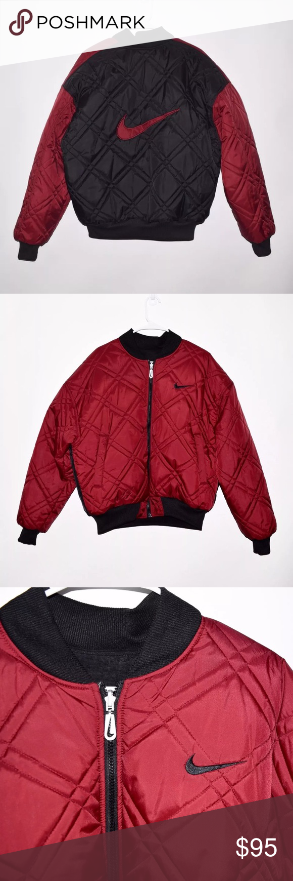 Vintage 90 S Nike Reversible Quilted Bomber Jacket Brand Nike Item Name Men S Vintage 90 S Reversible Quilted Bomber Jac Fashion Jacket Brands Clothes Design [ 1740 x 580 Pixel ]