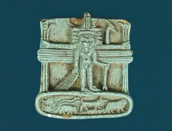 Ancient Egypt - Amulet with Bes, Dwarf-God - 304 - 30 BC