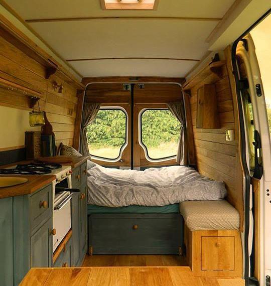 rustic campers campervan for the home pinterest. Black Bedroom Furniture Sets. Home Design Ideas