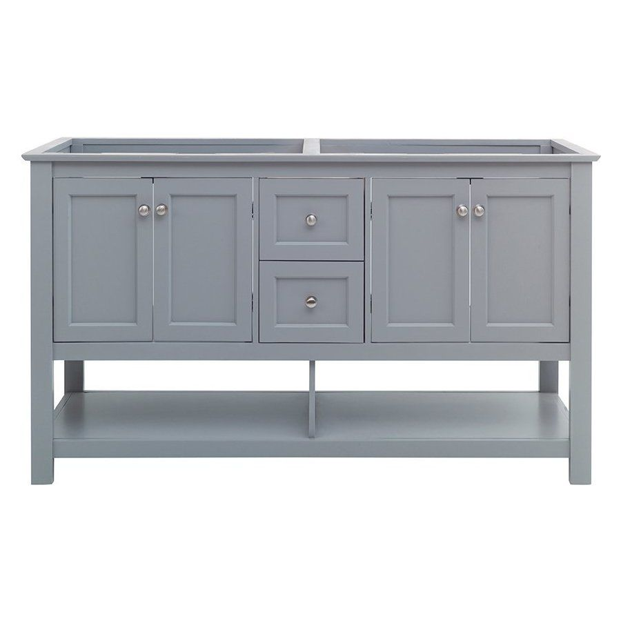 Fresca 60 Inch Manchester Double Sink Vanity Without Top Gray Fcb2360gr D In 2020 Double Sink Vanity Vanity Sink
