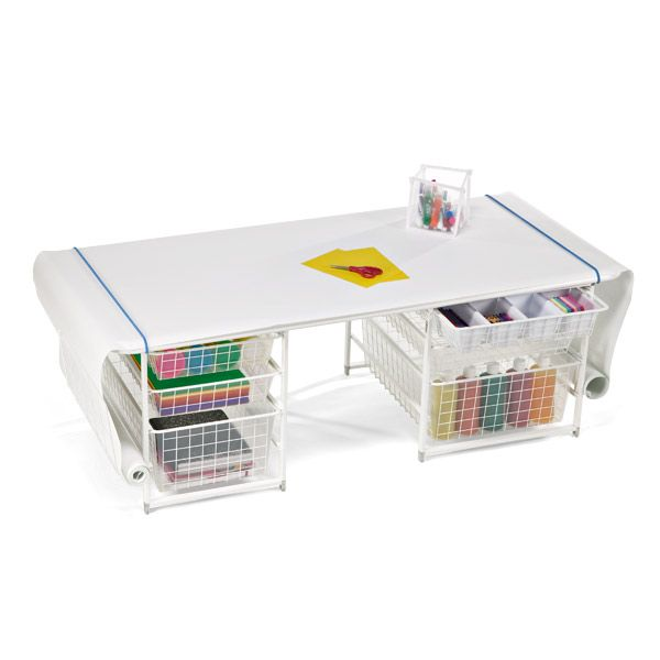 Great Little Desk The Container Store Elfa Kids Coloring Table With Rounded Corners