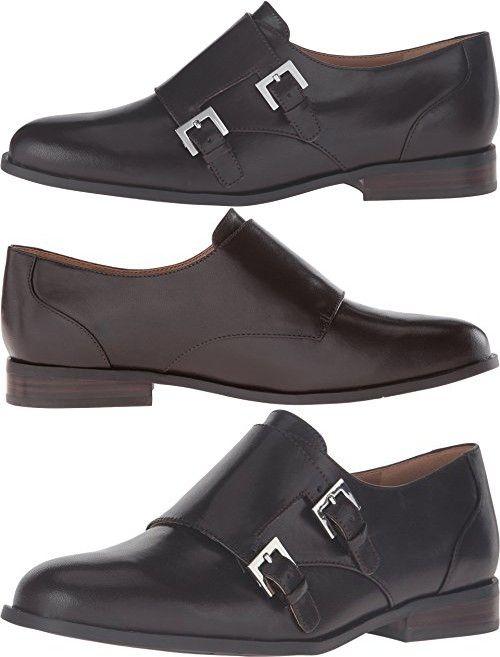 Nine West Women's Toastie Dark Brown Leather Oxford 6.5 M