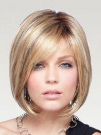Easeful Blonde Monofilament Chin Length Wigs