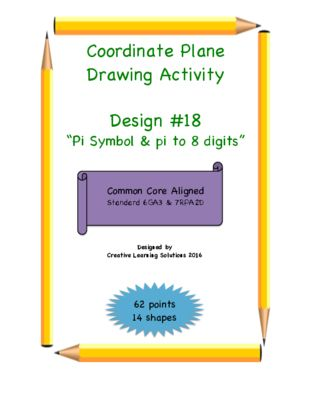 Coordinate Plane Activity Pi Symbol Pi Symbol And Activities