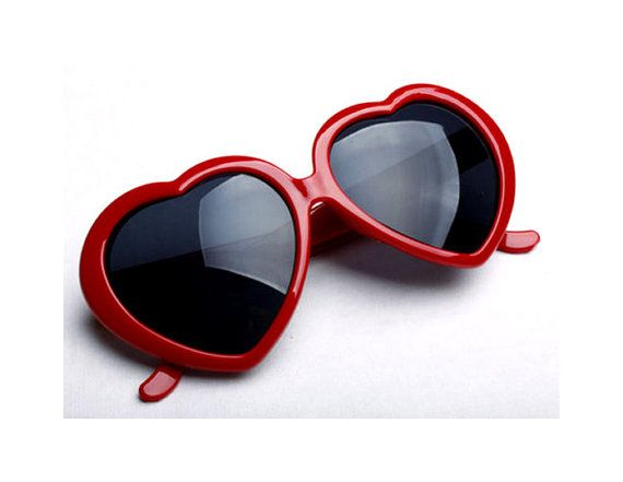 1cd485378fa Red Heart Shaped Sunglasses Red Sunglasses by Rakunsell on Etsy ...