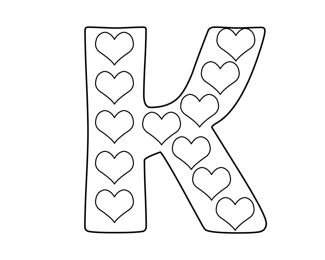Printable Letter K Coloring Pages For Kindergarten Alphabet