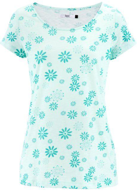 Blusa de jersei flamê verde meia manga com decote redondo