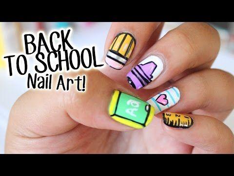 Back To School Nail Art 5 Easy Designs Part 1 Nail Art