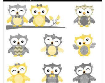 rustic baby girl bedrooms grey yellow owls   cute owl clip ...