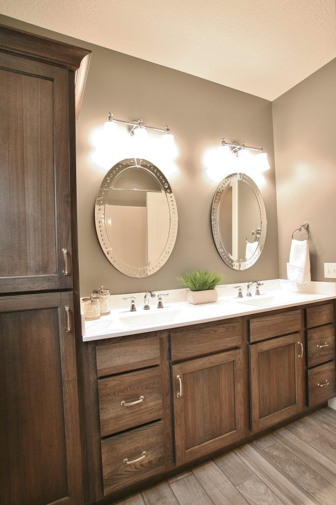 aspen bathroom cabinet hickory cabinets with quot quot stain applied in a home 10777
