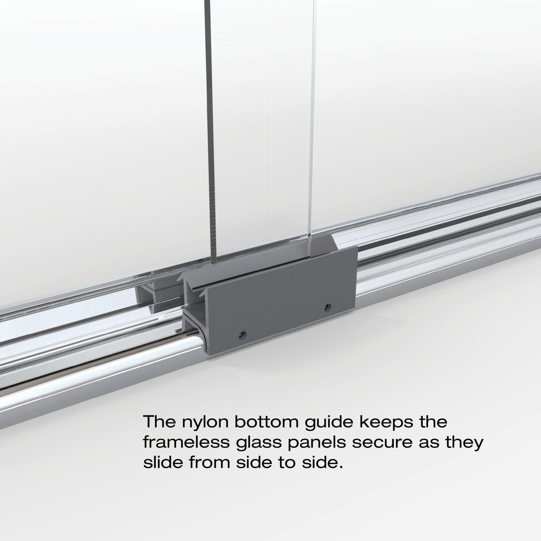 Bottom guides for shower doors
