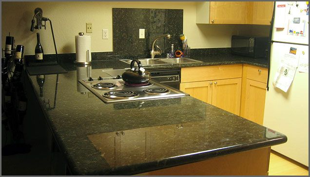 verde countertop with cabinets   Green kitchen countertops ...