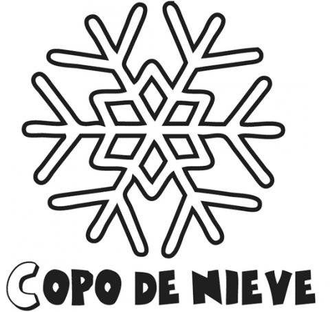 Dibujos de copo de nieve de Navidad para colorear con niños | Tél ...