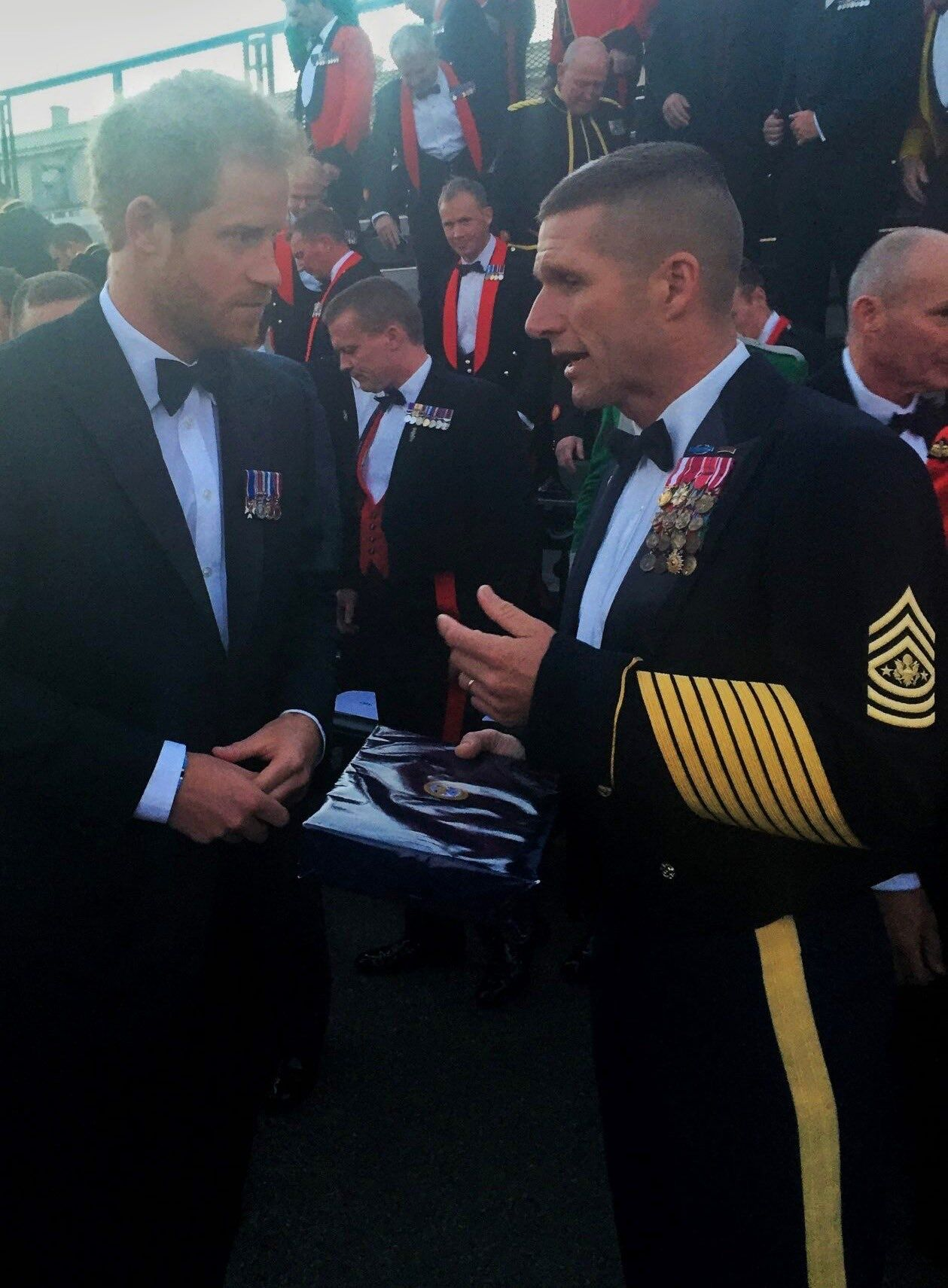 15th SMA Dan Dailey thanks Prince Harry for his dedication to wounded veterans…
