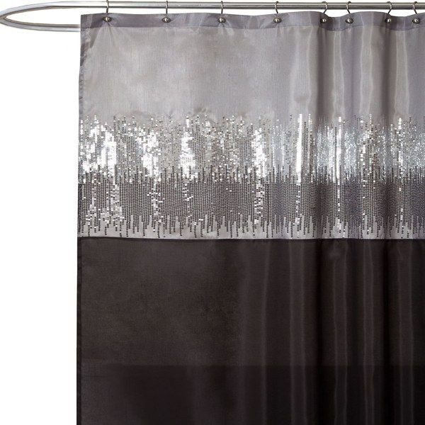 Night Sky Black And Gray 72 X Shower Curtain