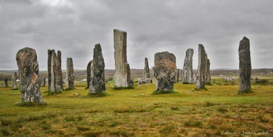 Calanais standing stones, Callanish, west coast of Lewis in the Outer Hebrides, Scotland