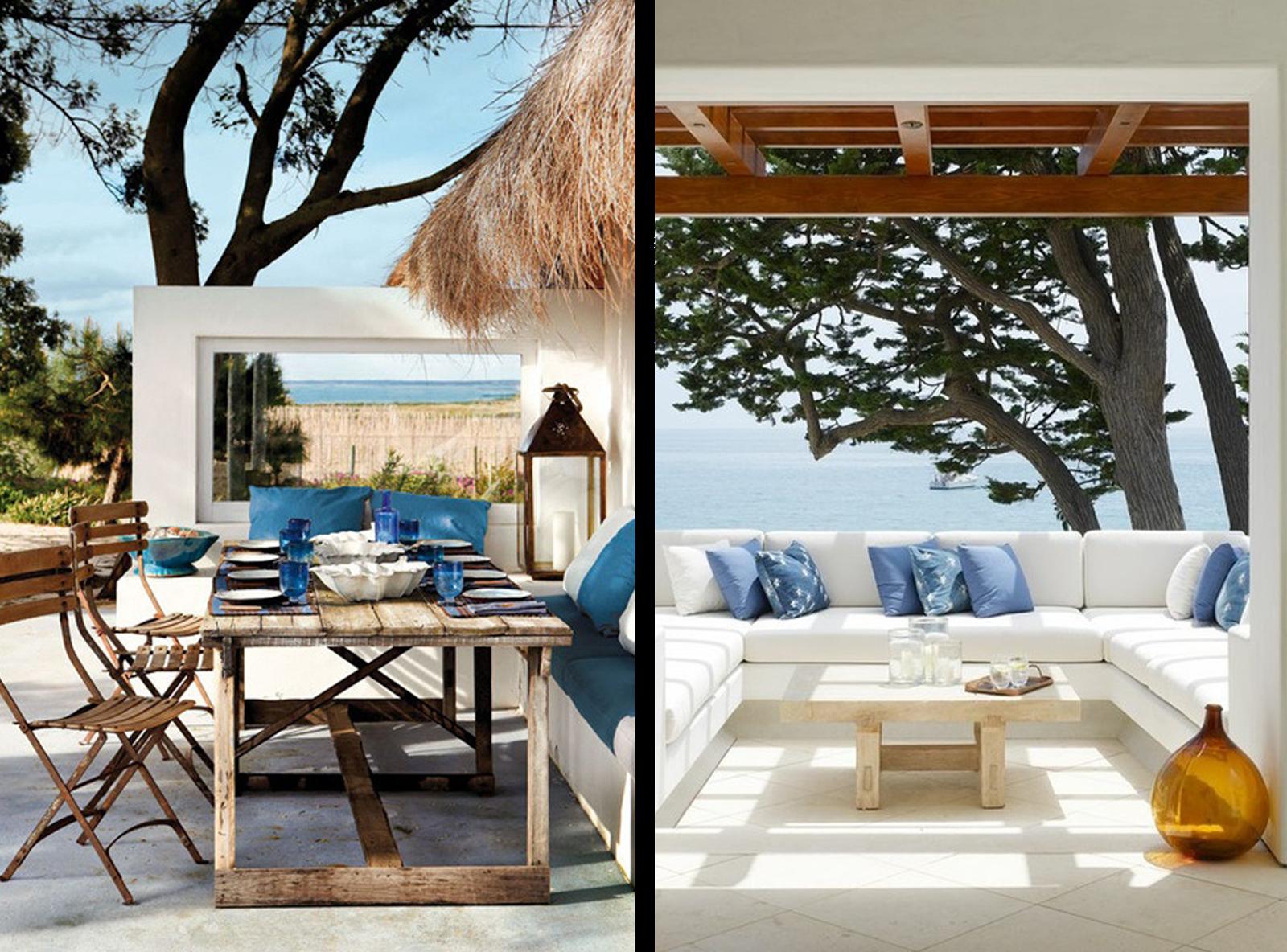 Terrazas decoradas en azul via miblog jardin for Terrazas decoradas