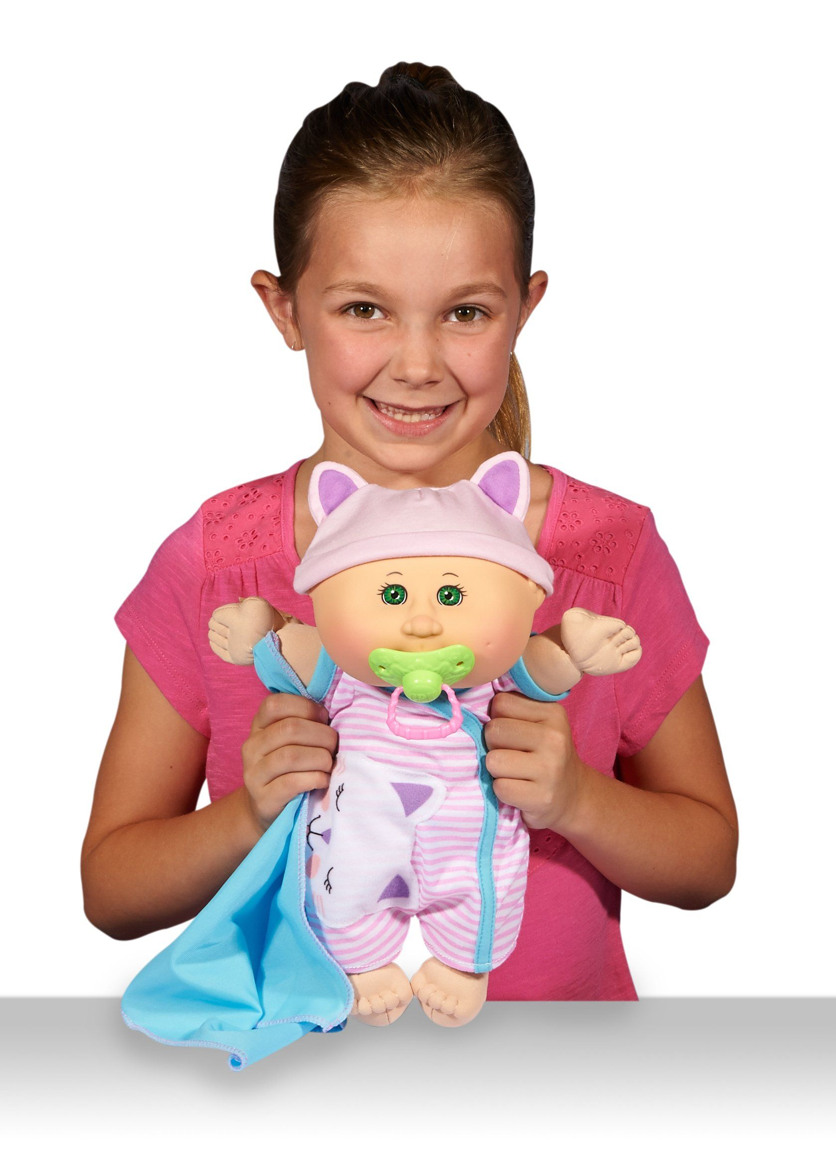 Cabbage Patch Kids 12 5 Naptime Babies Bald Blue Eye Girl Baby Doll Pink Stripe Jumper Fashion You Can Learn More Details At The Web Best Baby Doll Cabbage Patch Kids