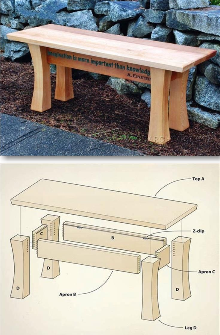 cedar garden bench plans - outdoor furniture plans and projects