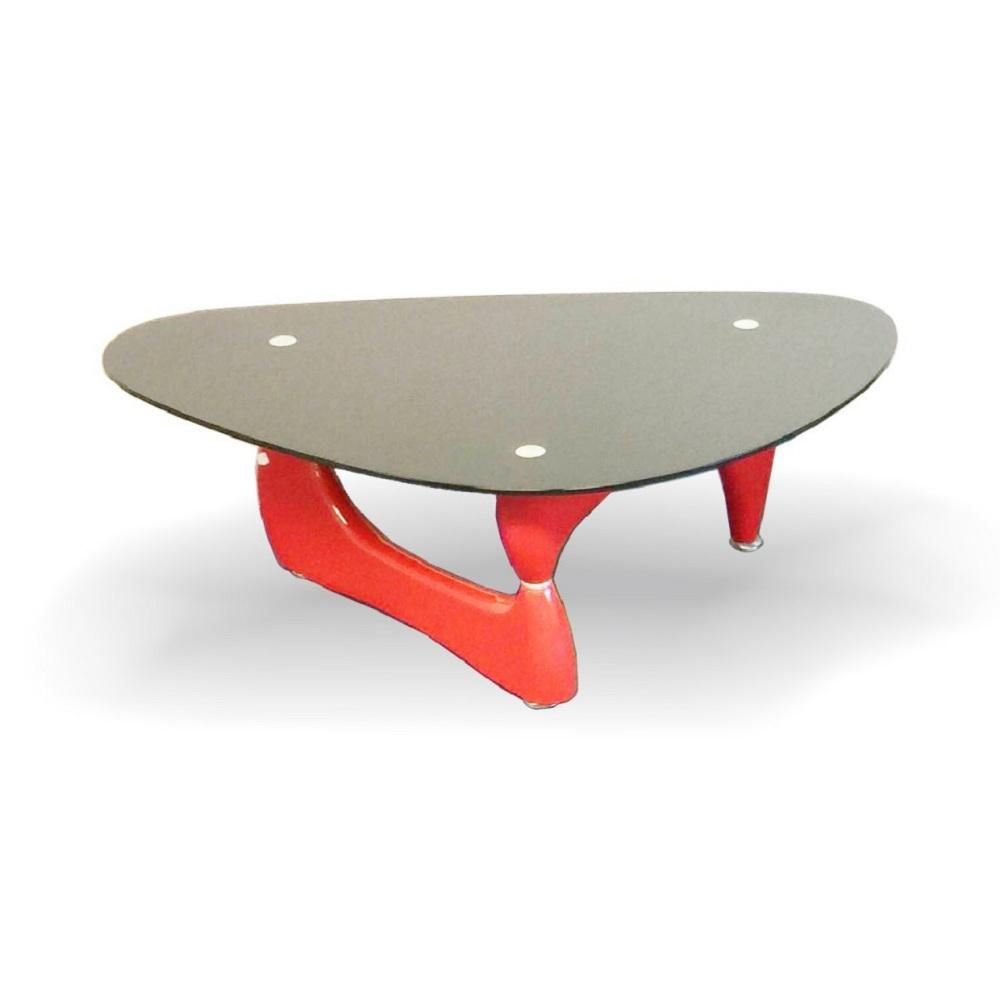 Fab Glass And Mirror Noguchi 47 In Red Black Large Triangle Glass Coffee Table With Glass Top Ctr Fab1270 The Home Depot Glass Top Coffee Table Red Coffee Tables Coffee Table [ 1000 x 1000 Pixel ]